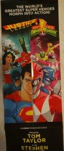 JUSTICE LEAGUE POWER RANGERS Promo Poster, 12 x 36, 2016, DC, WONDER WOMAN 328