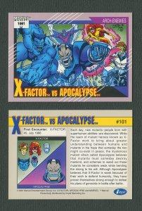 1991 Marvel Comics II  Card  #101 ( X-Factor vs Apocalypse)  MINT