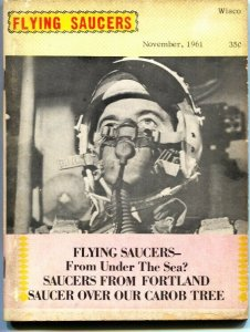 FLYING SAUCERS PULP MAGAZINE-Nov 1961-UFO-TELEPATHY-collectors ads & more-rare