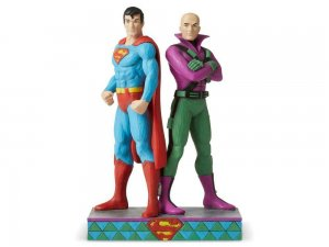 DC Comics Superman and Lex Luthor Statue by Jim Shore In Hand NIB