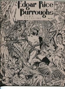 Edgar Rice Burroughs News Dateline #32 1988-Tarzan-new format issue-VF