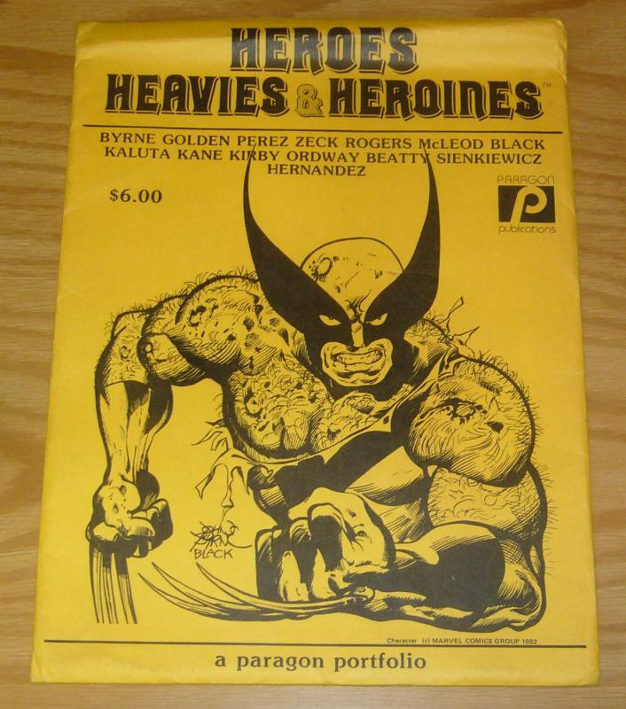 Heroes Heavies & Heroines portfolio - batman vs moon knight - jack kirby - byrne