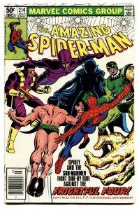 AMAZING SPIDER-MAN #214 comic book-1981-MARVEL-
