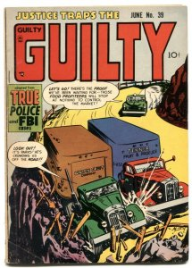 Justice Traps The Guilty #39 1952- Food Profiteers VG/F