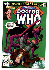 MARVEL PREMIERE #58 Doctor Who 1980 comic book