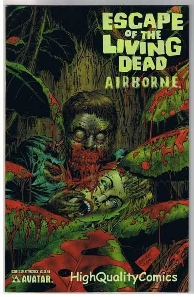 ESCAPE of the LIVING DEAD : AIRBORNE #3, VF+, Zombies, more Horror in store