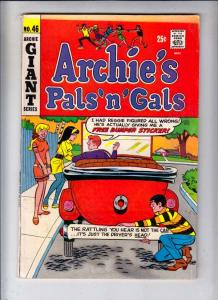 Archie's Pals 'n' Gals #46 (Jun-68) VG+ Affordable-Grade Archie, Betty, Veron...