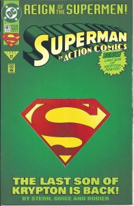 Action Comics #687 (6-93) Deluxe w/ die-cut cover & poster-Reign of the Supermen