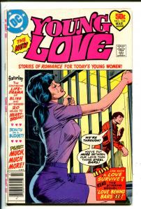 YOUNG LOVE #124-1972-DC-BABE BEHIND BARS-SPICY COVER-GIANT ISSUE-fn minus