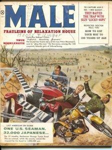 Male 7/1959-Atlas-Mort Kunstler-James Bama-pulp thrills-cheesecake-G
