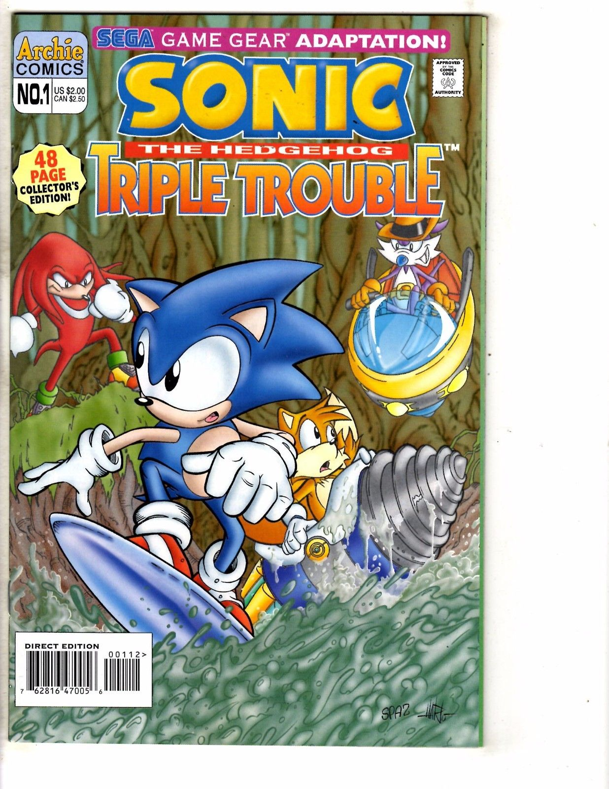 Sonic The Hedgehog Triple Trouble 1 Nm Archie Comic Book Game