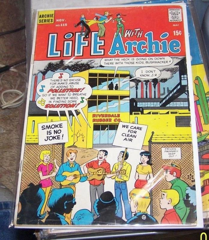 LIFE WITH ARCHIE #115 1971, Archie COMICS   JUGHEAD VERONICA BETTY riverdale tv
