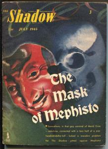 Shadow 7/1945-Street & Smith-Mask Of Mephisto-hero pulp-VG
