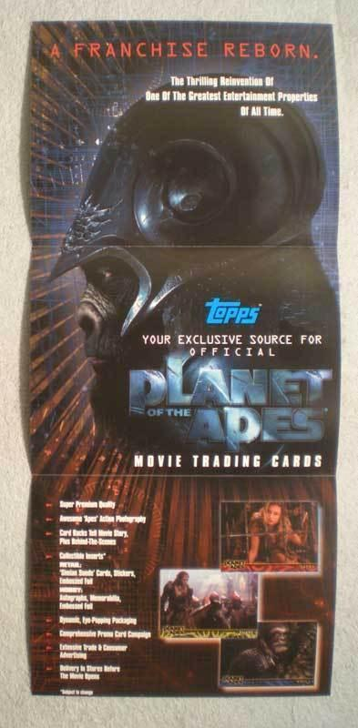 PLANET OF THE APES CARD  Promo Poster, 2001, Unused, more in our store