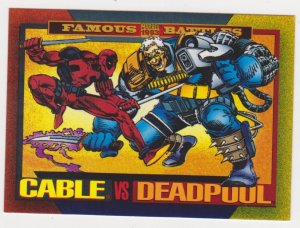 1993 Marvel Universe #178 Cable vs Deadpool