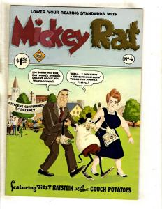 Mickey Rat # 4 VF- Underground Comic Book Last Gasp Dizzy Ratstein Couch Pot FM4