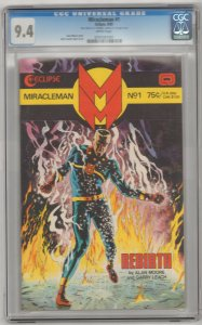 Miracleman GOLD EDITION #1 359/400 WITH COA CGC 9.4 NM 1985 Eclipse Alan Moore~