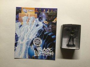 Black Lightning Super Hero Collection Lead Figure and Magazine Dc Eaglemoss