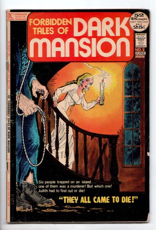 Forbidden Tales of Dark Mansion #5 - They All Came to Die! (DC, 1972) - VG