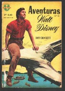 Aventuras Walt Disney-Davy Crockett #23 1965-Fess Parker TV photo cover-Spani...