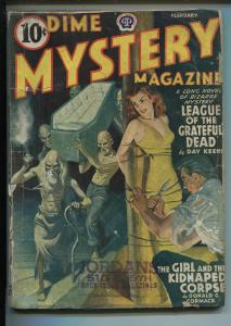 DIME MYSTERY 2/1941-BOUND BABE-SPICY-SAUCY-PULP FICTION-HORROR-DAY KEENE-good