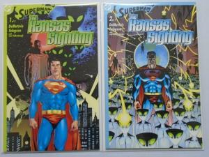 Superman The Kansas Sighting set#1&2 8.5.VF+ (2003)