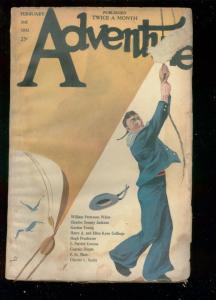 ADVENTURE PULP-FEB 3 1921-BELLE STARR ISSUE-SAILOR COVR G