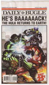 HULK vs IRON MAN DAILY BUGLE, NM, Battle, 2007, Returns to Earth, more in store