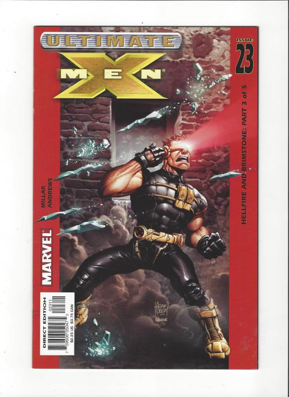 Ultimate X-Men #23 (2001) Hellfire and Brimstone Cyclops Cover NM