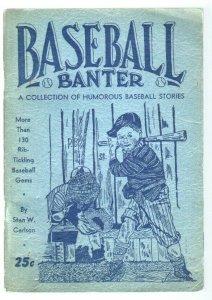 Baseball Banter 1940-Stan Carlson-illustrated gags & jokes-rare-VG/FN
