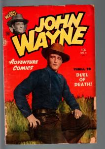 JOHN WAYNE ADVENTURE COMICS #8-FRANK FRAZETTA-AL WILLIAMSON-PHOTO COVER-195 G/VG
