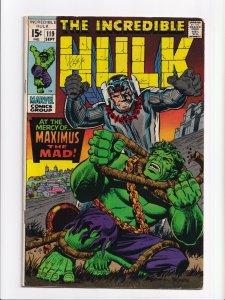 Incredible Hulk #119 Maximus the Mad Silver Age Marvel Comics 1969 FN/VF 7.0