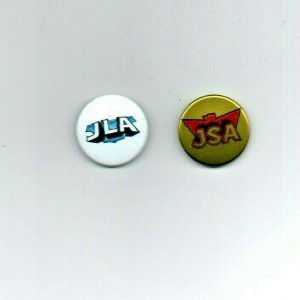 JLA & JSA Promo Button Set - Justice League - Justice Society - NEW