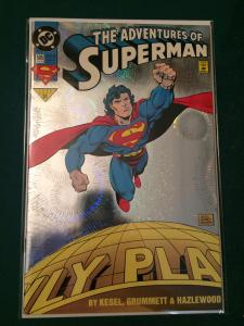 The Adventures of Superman #505 reflective/metallic cover