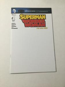 Superman Wonder Woman 1 Nm Near Mint Blank Variant DC Comics