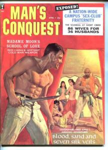 MAN'S CONQUEST-APR-1959-PULP THRILLS-FOREIGN LEGION-DANE ARDEN CHEESECAKE-vf