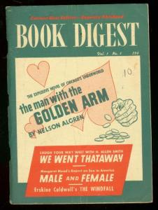 BOOK DIGEST #1 1950-MAN WITH GOLDEN ARM-NELSON ALGREN- VG