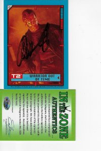 1991 Topps Terminator 2: Judgement Day Stickers #30 - ARNOLD AUTOGRAPH