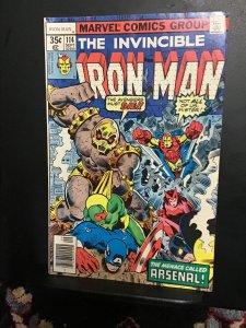 Iron Man #114 (1978) first appearance arsenal! High-grade key! VF/NM Wow!