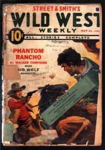 WILD WEST WEEKLY 5/21/1938-WESTERN PULP-PHANTOM RANCHO FR/G