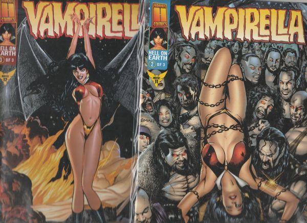 Vampirella Monthly Hell On Earth Set #1to3 (Sep-98) NM Super-High-Grade Vampi...