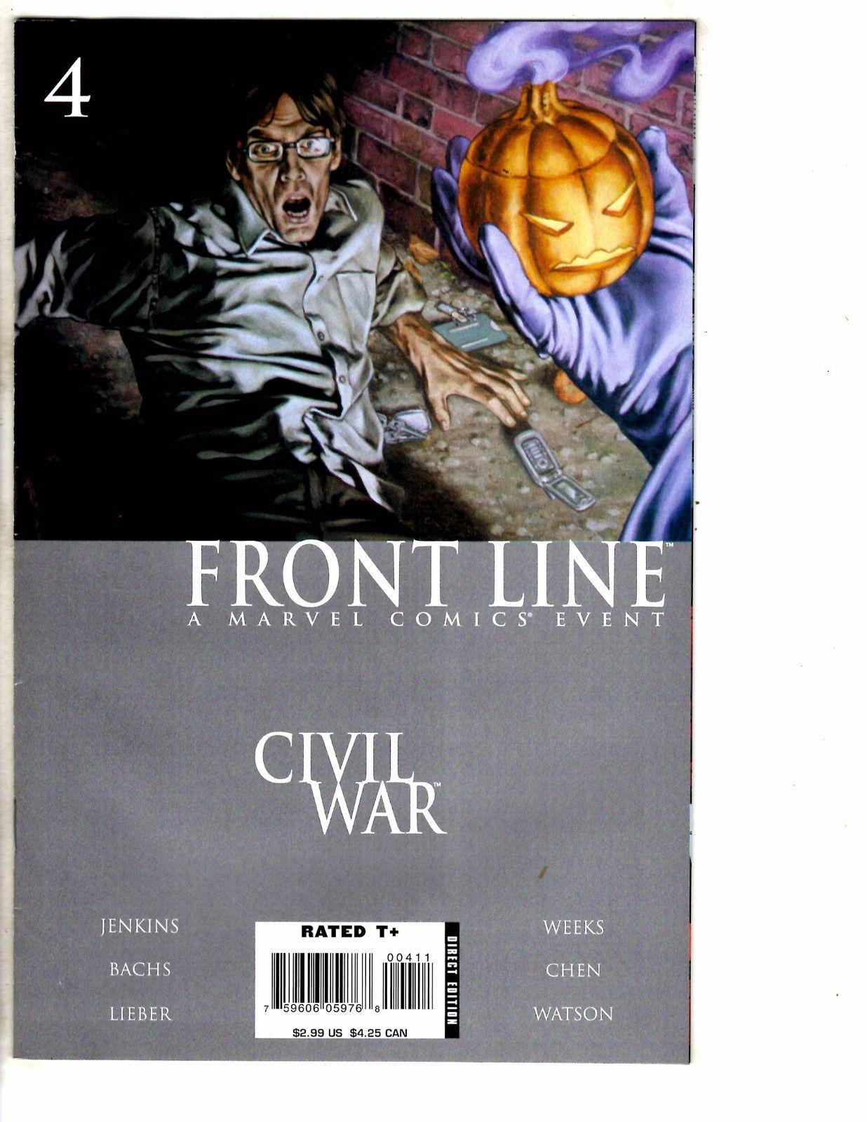 NM 2006 Marvel Comics CIVIL WAR FRONT LINE #4 of 11