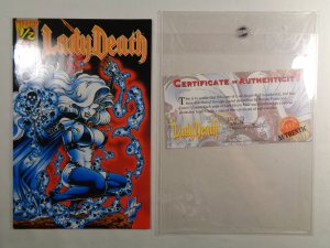 Lady Death #1/2 with Mylar Sleeve and COA Wizard 1994