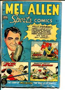 Mel Allen Sports #5 1949-Standard-1st issue-George Tuska art-Yankees-FR