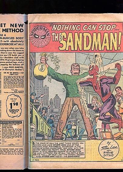 AMAZING SPIDER-MAN #4  (1963)  3.5  OW/W PGS FIRST SANDMAN NO CHIPPING SUPER KEY