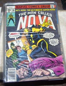 NOVA # 20 1978 MARVEL  PROJECT X RICHARD RIDER