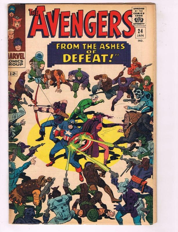 Avengers # 24 FN Marvel Silver Age Comic Book Iron Man Captain America Thor J30