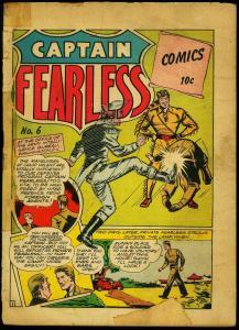 Captain Fearless #6 1944- Holyoke one shot- Alias X- G