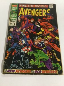 Avengers King Size Special 2 Gd Good 2.0 Tape On Spine Marvel Silver Age