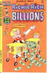 RICHIE RICH BILLIONS (1974-1982) 24 VF-NM July 1978 COMICS BOOK